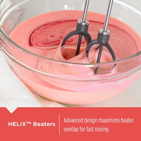 5-Speed Hand Mixer with Helix beaters.