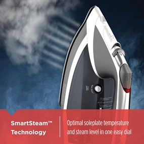 SmartSteam™ Technology | Optimal soleplate temperature and steam level in one easy dial