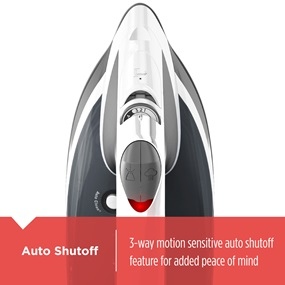 Auto Shutoff | 3 way motion sensitive auto shutoff feature for added peace of mind