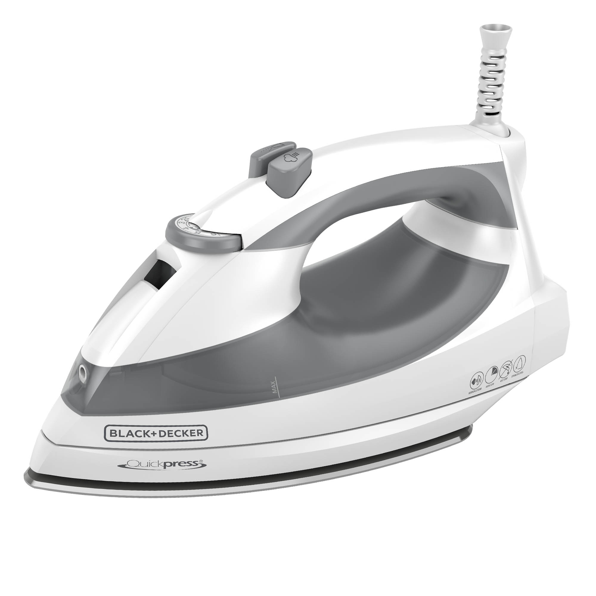 Quickpress™ Steam Iron with SmartSteam™ Technology, Gray