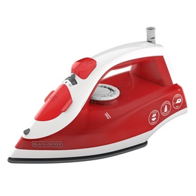 Variable Control Compact Steam Iron, Red