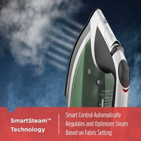 SmartSteam™ Technology | Smart control automatically regulates and optimizes steam based on fabric setting