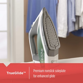 TrueGlide™ premium nonstick soleplate for enhanced glide