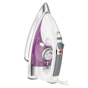 IR1350S-T Professional Steam Iron with Stainless Steel Soleplate, Purple
