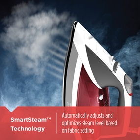 SmartSteam™ Technology | Automatically adjusts and optimizes steam level based on fabric setting