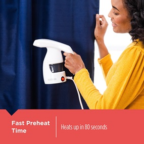 Easy Garment Steamer heats up in 80 seconds - HGS011