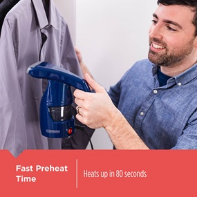Easy Garment Steamer heats up in just 80 seconds - HGS011S