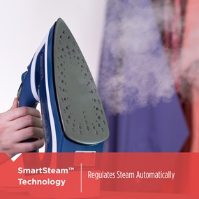 SmartSteam Technology. Regulates steam automatically