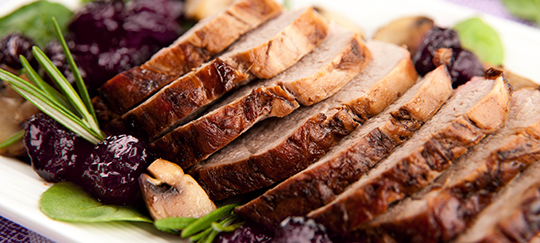 Pork Roast With Tart Cherries