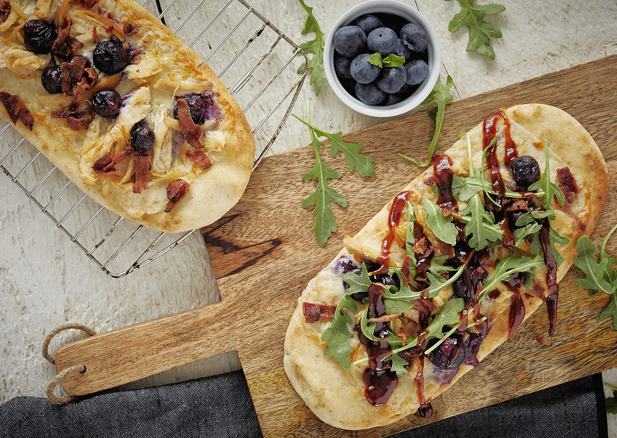Blueberry Chicken Naan Pizza George Foreman Recipe