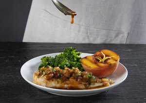 Grilled Chicken with Chipotle Peach Sauce