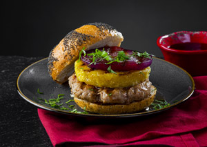 Teriyaki Turkey Burgers with Grilled Pineapple