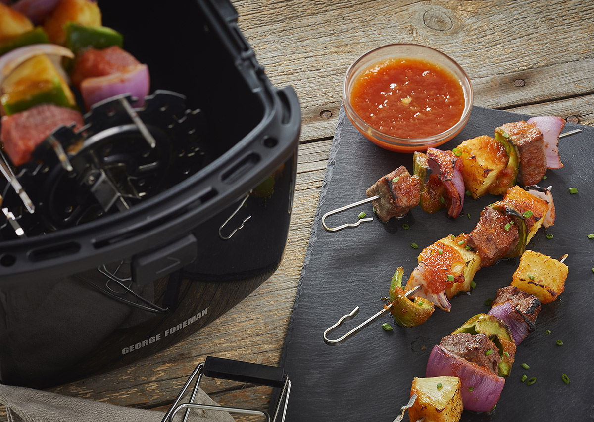 Bourbon Peach BBQ Kabobs George Foreman Recipe