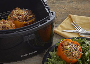 Muchroom and Goat Cheese Stuffed Peppers George Foreman Recipe