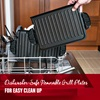 Dishwasher-Safe Removable Grill Plates. For Easy Clean Up