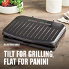5-Serving Classic Plate Electric Indoor Grill and Panini Press with adjustable angle - GRS075B