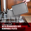 8 serving grill with dishwasher safe removable plates