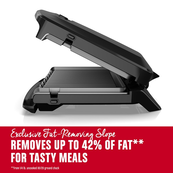 exclusive fat removing slope removes up to 42 percent of fat for tasty meals. from one fourth pound uncooked 80 20 ground chuck