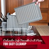 Dishwasher Safe Removable Grill Plates for Easy Cleanup