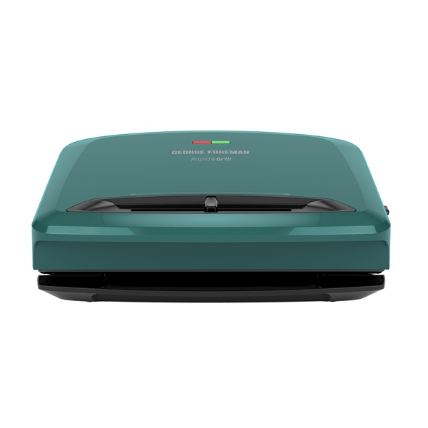 Rapid Grill Series 5-Serving Removable Plate Electric Indoor Grill and Panini Press, Teal