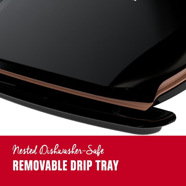 Nested Dishwasher-Safe. Removable drip tray