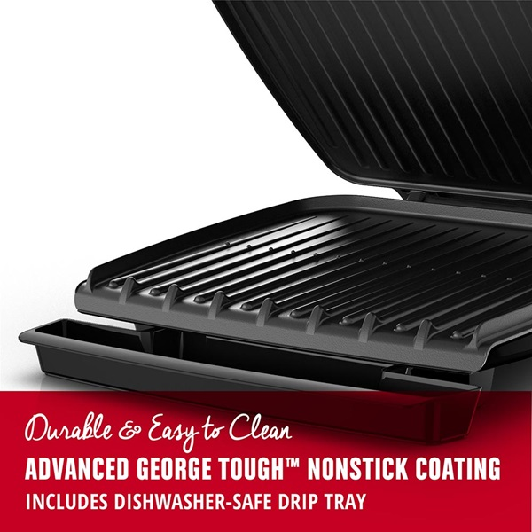 8 Serving Classic Plate Electric Indoor Grill Amp Panini Press With Adjustable Temperature Black