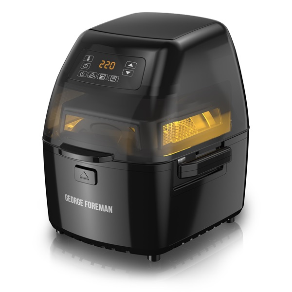 George Foreman® Twist 'N Crisp Air Fryer, with Rotisserie, Black, GHFD6800B