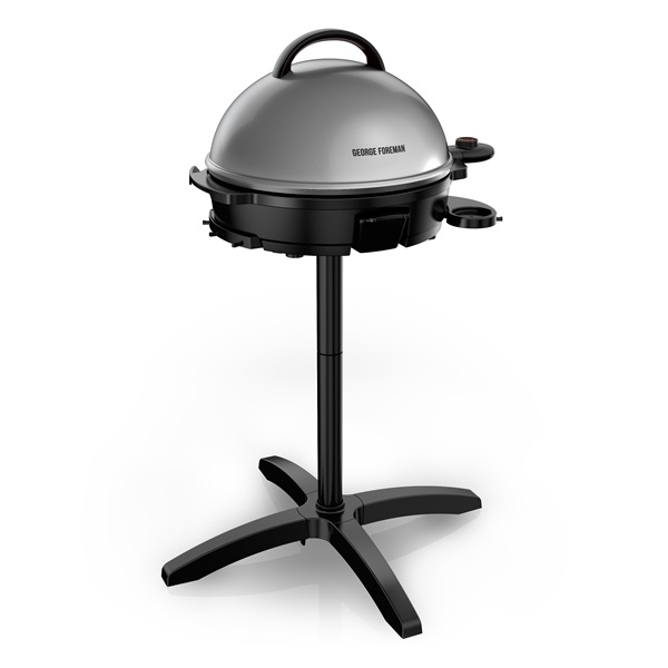 George Foreman® 15-Serving Indoor/Outdoor Electric Grill, Silver