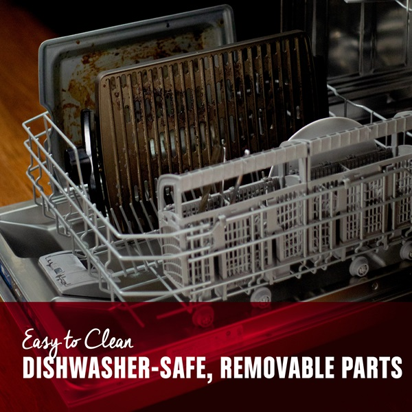 Easy to clean. Dishwasher-Safe, removable parts