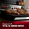 Party size grill. 172 square inch cooking surface