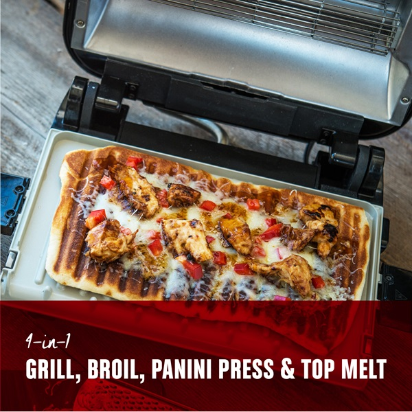 Grill Broil 4 In 1 Electric Indoor Grill Broiler Panini Press And Top Melter Copper