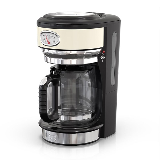 CM3100CRR Retro Style Coffeemaker in Cream
