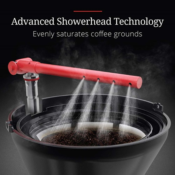 CM3100CRR Retro Style Coffeemaker in Cream - Advanced Showerhead