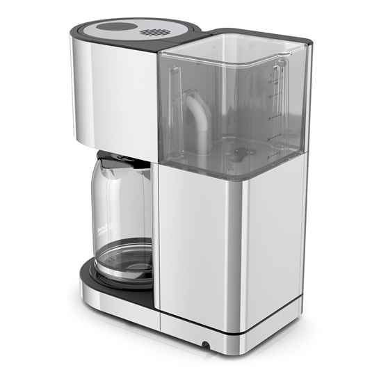Stainless Steel 8-Cup Coffeemaker | Silver Glass Accent