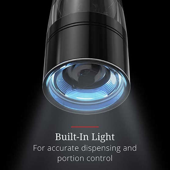 Built-In Light – For accurate dispensing and portion control