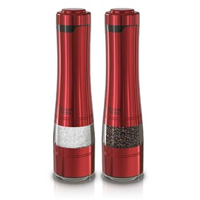 RUSSELL HOBBS™ Electric Salt & Pepper Mills, Red