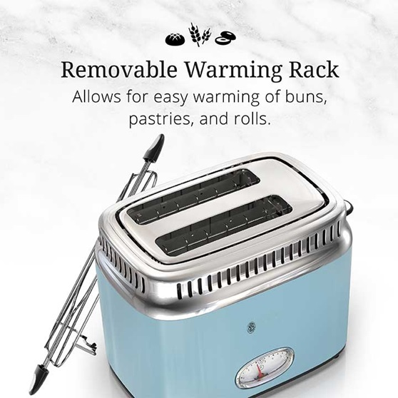 Removable Warming Rack - Allows for easy warming of buns, pastries and rolls