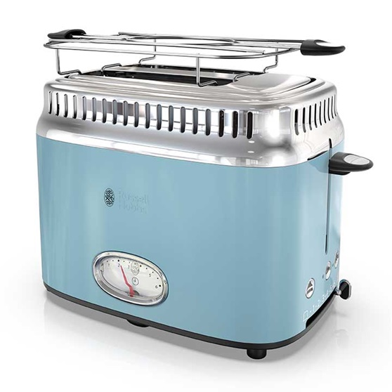 size 40 e36ad a9dda Russell Hobbs 2-Slice Retro Toaster, Heavenly Blue, TR9150BLR
