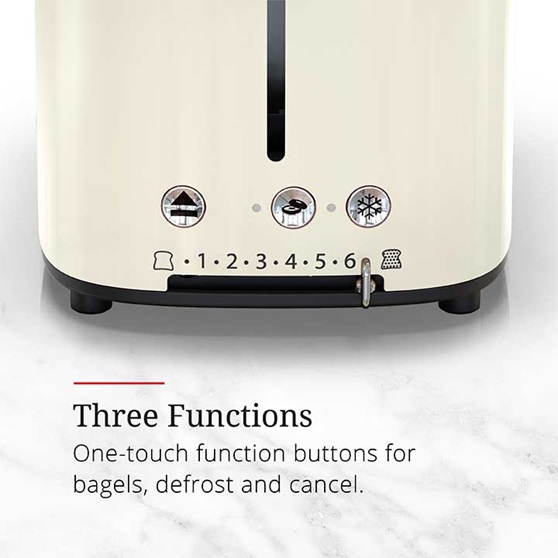 Three functions, one touch function buttons for bagels, defrost and cancel | TR9150CRRC