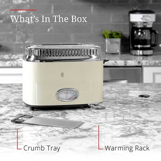 What's in the box | Crumb tray and warming rack | TR9150CRRC