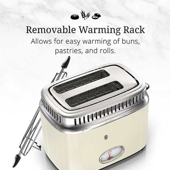 Removable Warming Rack | Allows for easy warming of buns, pastries and rolls | TR9150CRRC