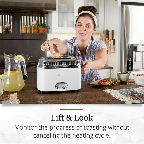 Lift and Look | Monitor the progress of tasting without canceling the heating cycle | TR9150WTR
