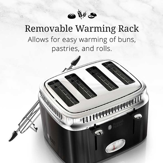 Removable Warming Rack | Allows for easy warming of buns, pastries and rolls | TR9250BKR