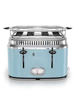 Blue 4 Slice Toaster