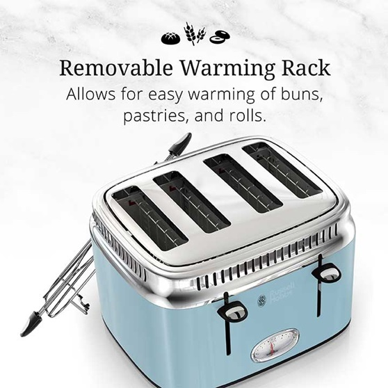 Removable Warming Rack - Allows for easy warming of buns pastries and rolls