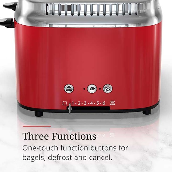 Three functions, one touch function buttons for bagels, defrost and cancel | TR9250RDR