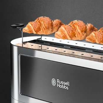 black glass accent 2 slice toaster warming rack