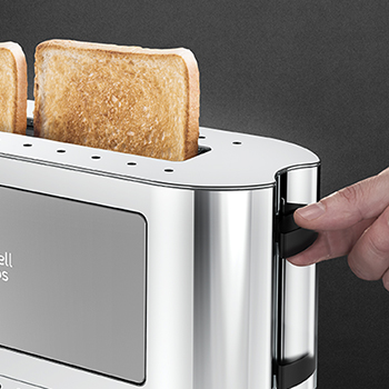 silver glass accent 2 slice toaster lift and look